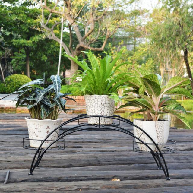 Metal Outdoor Indoor Plant Stand Garden Decor Flower Pot Shelves Wrought Iron Us