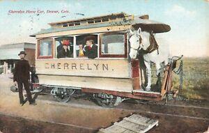 Postcard-Cherrelyn-Horse-Car-Denver-Colorado