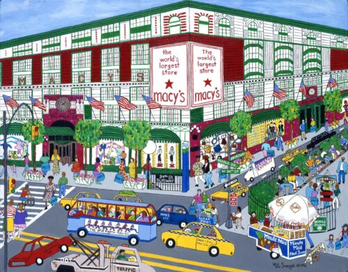 "Macy/'s NYC Art Reproduction 8x10/""  Pat Singer/'s New York  PSNY"