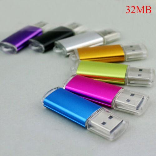 32MB usb 2.0 flash memory stick thumb drive pc laptop storage YF FD