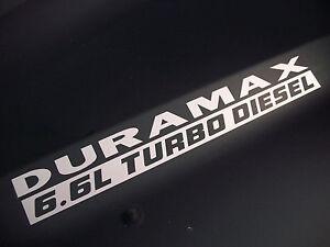 6.6L TURBO DIESEL Hood Decals Stickers Chevy Silverado GMC Sierra HD Duramax