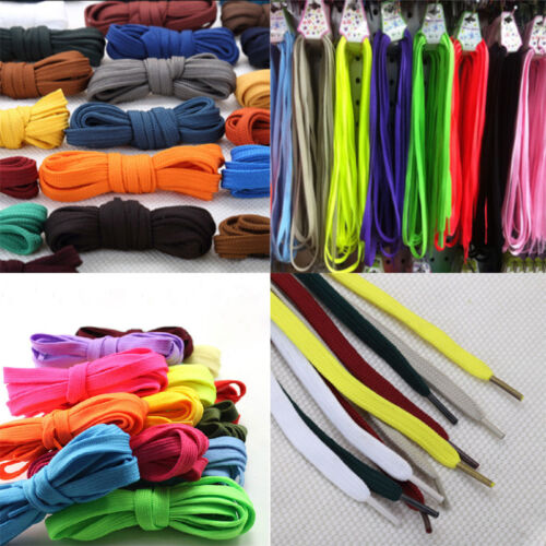 Hot 2pcs 30 Colors Athletic Sport Sneaker Flat Bootlaces Shoelaces Strings Laces