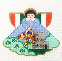 So Irish Angel & Charms Handpainted Needlepoint Canvas By Painted Pony