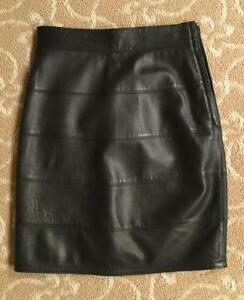 67a9dbde Details about Vintage Gianni Versace Black Leather Skirt Size 38 Collector  Piece