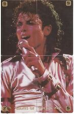 USA - Satelite Communication Collector Cards - Puzzle Michael Jackson 4 Cards