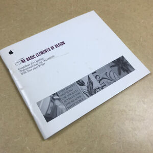 "Apple ""The basic elements of design"" Guidelines -- Apple LaserWriter Macintosh"