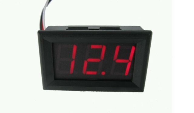 4.5V to 30V Digital LED Auto Car Truck Voltmeter Gauge Voltage Volt Panel Meter