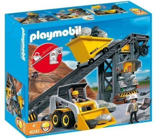 PLAYMOBIL® 4041 Förderanlage mit Kompaktlader NEU ungeöffnet TOP RARITÄT