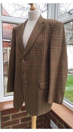 Size Vintage Jacket Tartan Wool M Blazer Tweed Brown Men's Magee P7qxOx