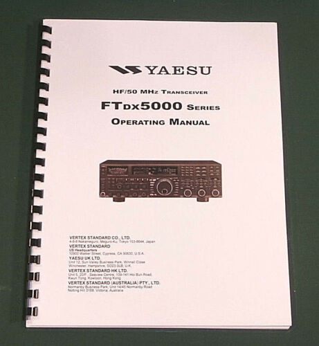 Yaesu FTdx-5000 Operating Manual Premium Card Stock Covers /& 32lb Paper!