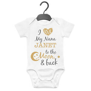 I LOVE MY NANNY Personalised Baby SleepSuit Romper