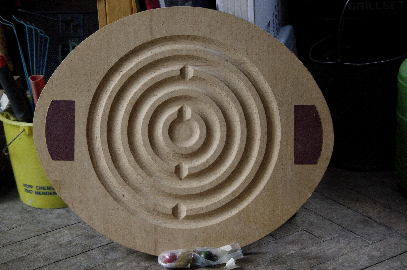 Holz Balancierbrett 58 x 48 cm mit 3 Holzkugeln