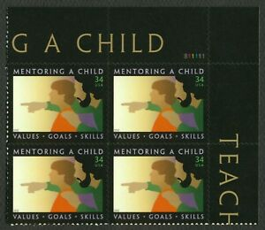 3556-34c-Mentoring-A-Child-Plate-Blk-S11111-UR-Mint-ANY-4-FREE-SHIPPING