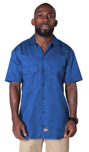 Royal Blue Dickies1574RB Mens Classic Shirt Dickies Short Sleeve Work Shirt