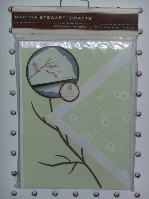 Martha Stewart Crafts Branch Fall Flower 5 X 7 Invitations Cards Stickers For Sale Online Ebay