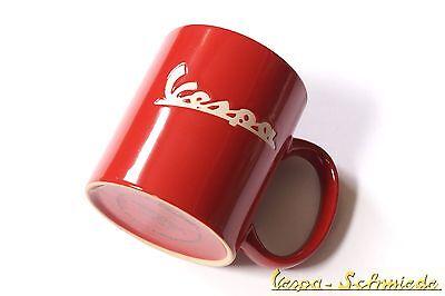"Retro Kaffeetasse ""Vespa"" - Rot - Tasse Becher Mug V50 PK PX GL GT Sprint Rally"