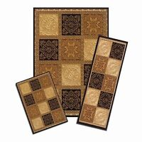 Achim Home Furnishings Capri 3piece Rug Set, Sarouk Squares, New, Free Shipping on sale