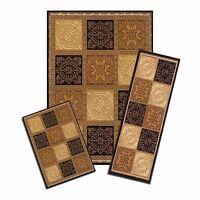 Achim Home Furnishings Capri 3piece Rug Set, Sarouk Squares, New, Free Shipping on sale