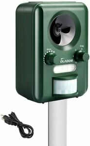 VOLADOR Animal Repellent Waterproof Ultrasonic Cat Fox Repeller Solar USB Power