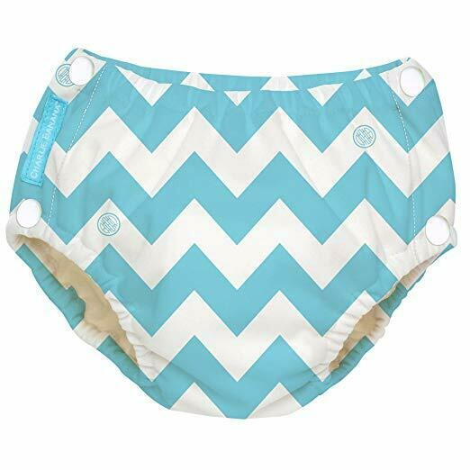 NEW Charlie Banana Baby Reusable Easy Snaps Swim Diaper - CB Blue  - X-Large