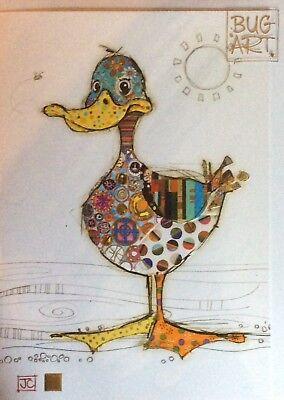 Bug Art Gold Foiled Kooks Animal Greeting Card-Dotty Duck
