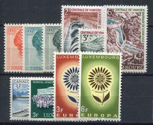 Luxembourg-1964-Mi-690-699-Neuf-100-Fleurs-duchesse-Charlotte