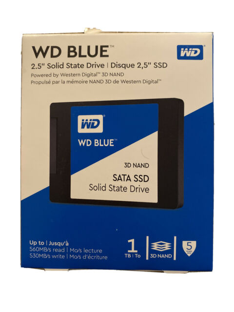 """WD - Blue 1TB Internal SATA 2.5"""" Solid State Drive - New, Free Shipping"""