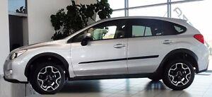 Subaru-XV-2012-Crosstrek-4-Pcs-Cuerpo-Protector-De-Puerta-Lateral-Molduras-Adorno-de-moldeo