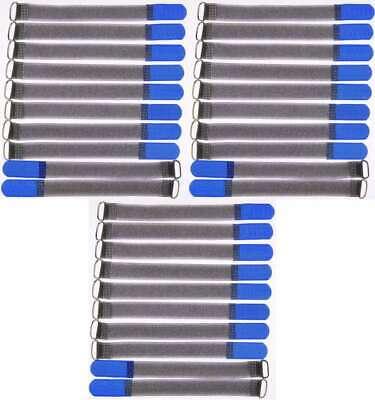 Intelligent 30x Kabelklettband Fk 20 Cm X 20 Mm Blau Klettband Klett Kabel Binder Band M Öse Waren Jeder Beschreibung Sind VerfüGbar