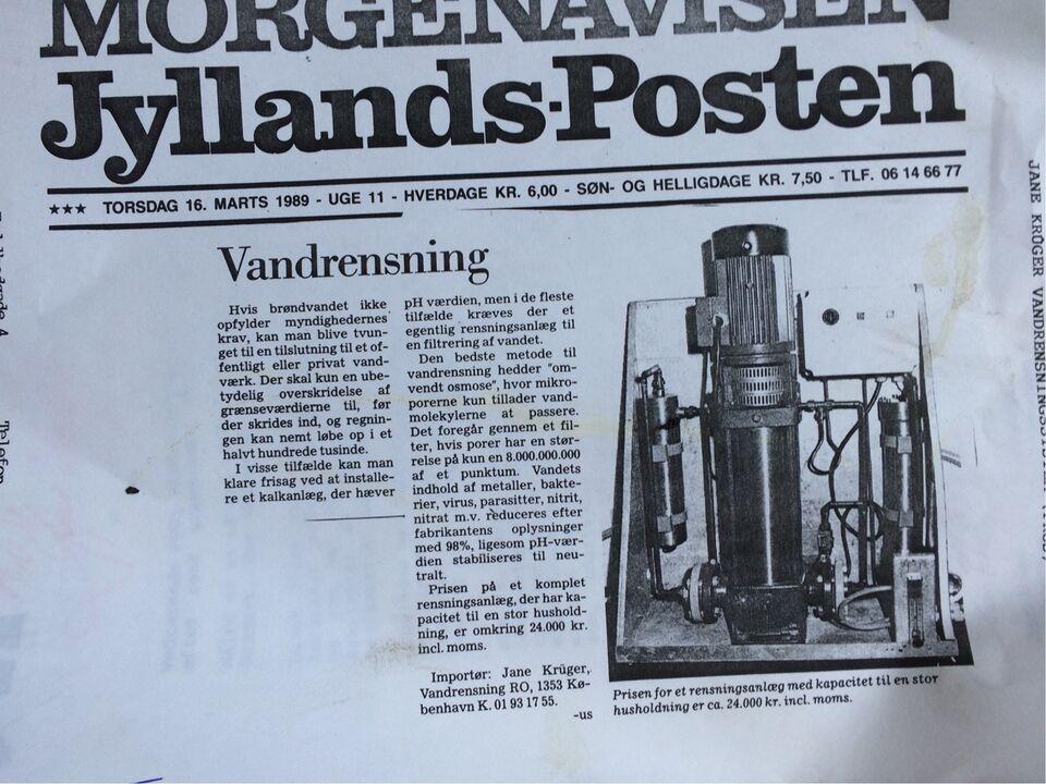 vandrensningsanlæg, Danfoss