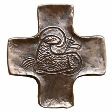 Bronzekreuz Lamm Gottes 9 cm * 8 cm Kommunion Bronze Cross Lamb of God