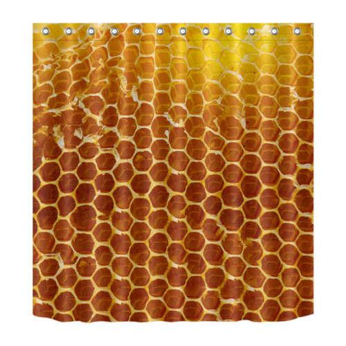 Bee Network Waterproof Bathroom Polyester Shower Curtain Liner Water Resistant