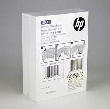 "HP Vivid InkJet Photo Paper 5"" x 7"" Glosy white CG938A 220 Sheets - NEW SEALED"