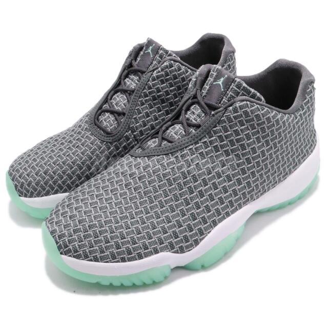 premium selection ab7af 97bdb Nike Air Jordan Future Low Wolf Grey Emerald Rise Men Lifestyle Shoes 718948 -006