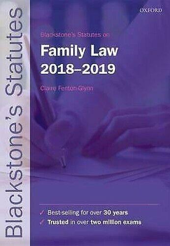 Blackstone's Statutes Auf Familie Karina Law 2018-2019 Taschenbuch Claire