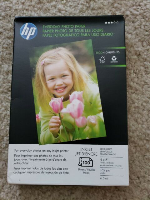 "Semi-Gloss Satin Photo Paper 42/"" x 100/' Inkjet 7 mil HP Canon Plotter 1 Roll"