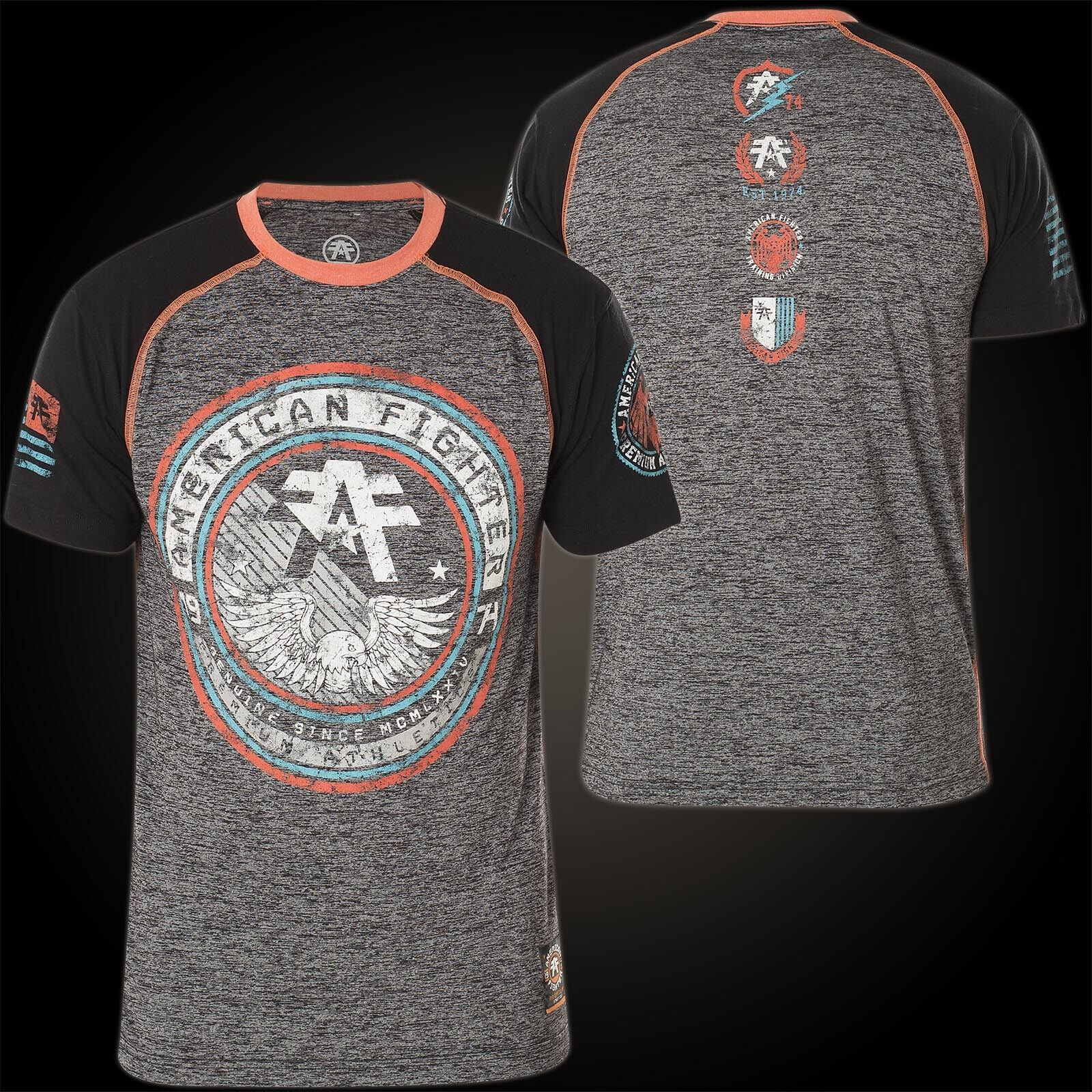 AMERICAN FIGHTER Affliction T-Shirt Freeman Grau/Schwarz T-Shirts
