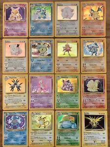 Pokemon Base Set Holo Charizard, Blastoise Venusaur etc you Choose Nr Mint