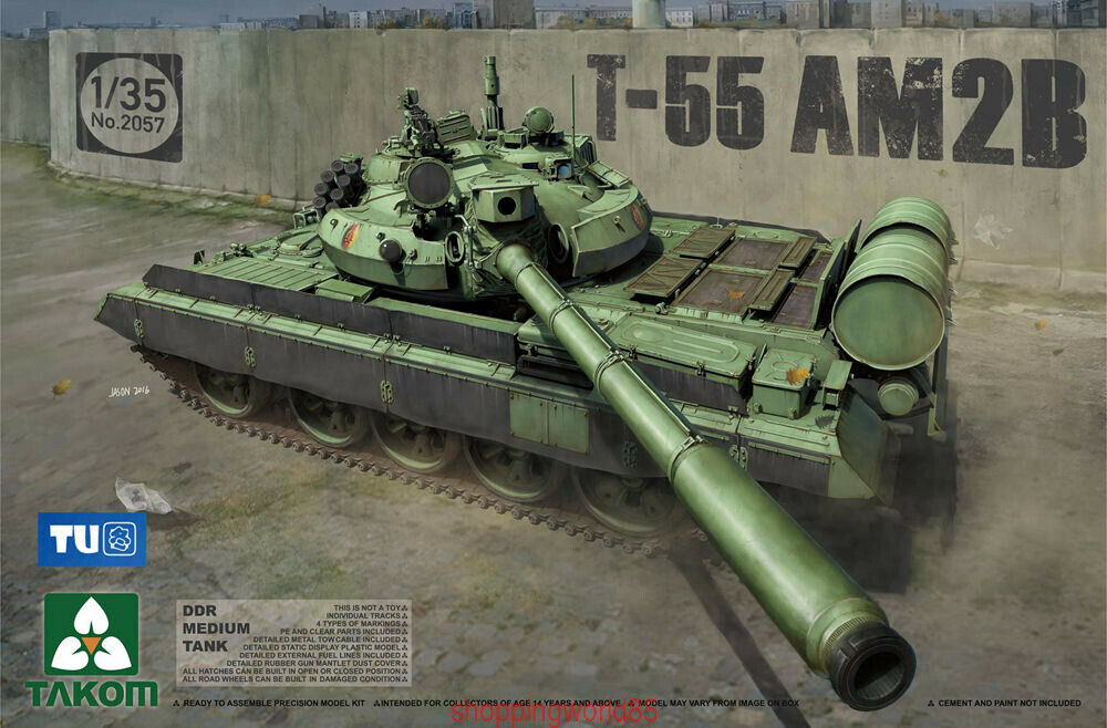 Takom 2057 1 35 Russian Medium Tank T-55 AM2B