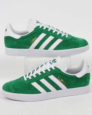 c8c941cfe84b Adidas Originals - Adidas Gazelle Trainers in Green   White - retro old  skool