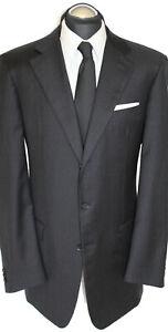 USA billig verkaufen suche nach authentisch günstig Details zu Regent Anzug Gr. 110 (56 Lang) SUPER 120 handgenäht Dunkelgrau  handmade TOP