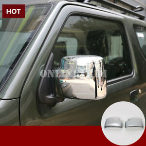 ABS-Chrome-Side-Rearview-Mirror-Trim-Cover-2pcs-For-Suzuki-Jimny-2007-2017