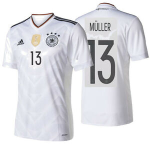 buy online 154e3 a7ed6 Details about ADIDAS THOMAS MULLER GERMANY HOME JERSEY 2017 White/Black.
