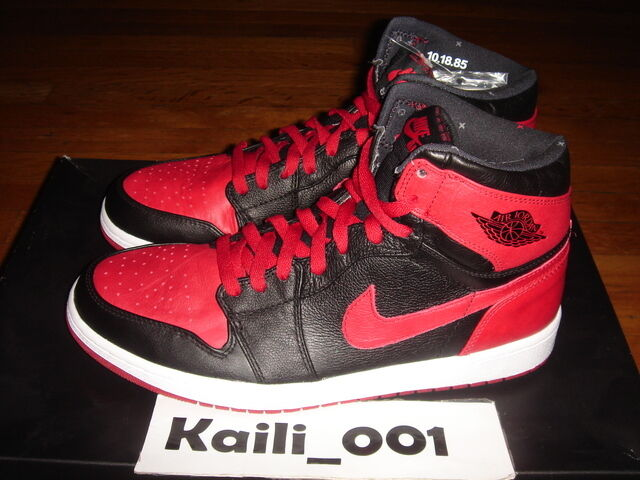 Nike Air Jordan 1 Retro HIGH BAN Size 12 432001-001 BANNED BRED ROYAL B GRADE C