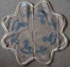 Kreuzstich 1 Decke Stern Form, Weihnachten Schaukelpferd Tannenzweig rustikal