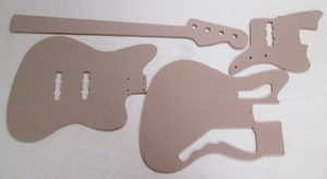 Jazzmaster Bass Schablone templates Gitarrenbau
