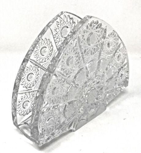 "Crystal Glass Napkins Holder 5,5 "" Hand Cut Czech Bohemian CrystalVintage Design"