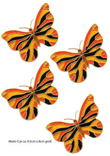 318 Window Color Fensterbild Fensterfolie Sticker 6 Schmetterlinge im Set