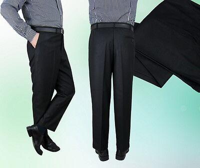 2019 Neuestes Design Herren Hose Anzughose Schwarz Klassisch Dick 48 52 58 66 70