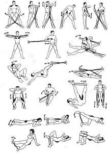 1 anneau 4 elastiques de latex musculation yoga gym exercice fitness pilates ebay. Black Bedroom Furniture Sets. Home Design Ideas